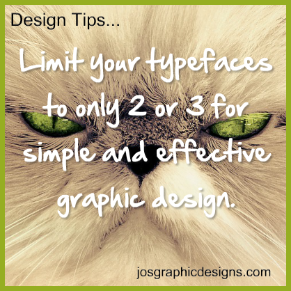 design tip - limit-typeface
