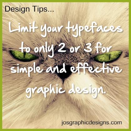 design tip - limit-typeface